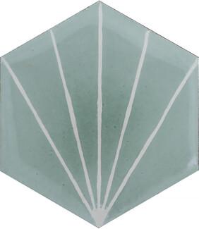 Dandelion Encaustic Tile - Celadon and Milk