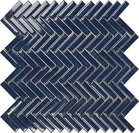 Chevron - Blue Mosaic