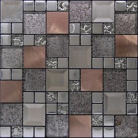 Kaos Silver Mosaic Tiles