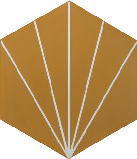Dandelion Encaustic Tile - Honey and Pure white
