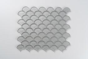 Aurora Glass Mosaic -  Fan - Grey