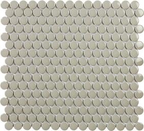 Penny Round Grey mosaic