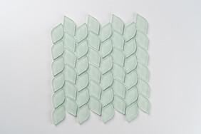 Aurora Glass Mosaic -  Leaf  - Green