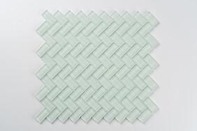 Aurora Glass Mosaic -  Herringbone  - Green