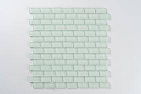 Aurora Glass Mosaic -  Mini Brick  - Green