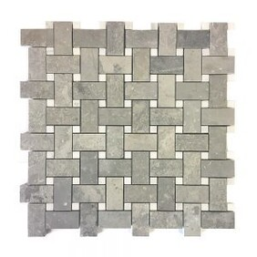 Cement Basket Weave with White inset