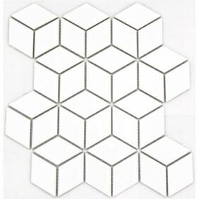 3D Hex - White gloss