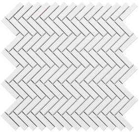 Chevron - White Mosaic