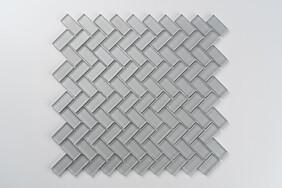 Aurora Glass Mosaic -  Herringbone  - Grey