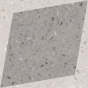 Natural Drops Rhombus Decor - Grey