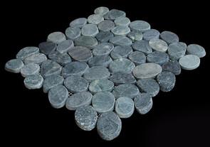 Medan Charcoal Flat Pebble tiles