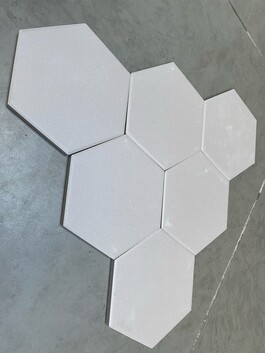 Full Bodied Porcelain Taupe Hexagon  7.36 sqm Job Lot