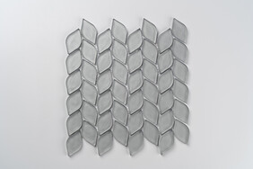 Aurora Glass Mosaic -  Leaf  - Grey