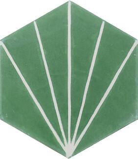 Dandelion Encaustic Tile - Lawn and Milk