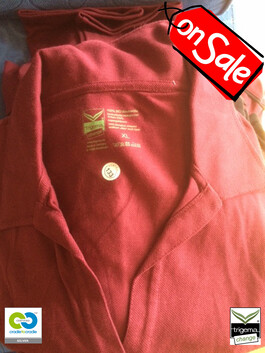 SALE (ONE ONLY) - Womans Cradle to Cradle Certified™ XL Sangria Polo T-Shirt