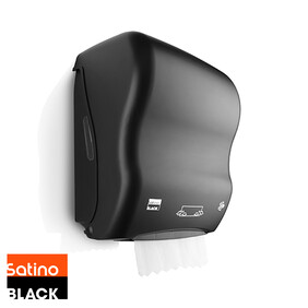 Satino Black - Paper Hand Towel Dispenser