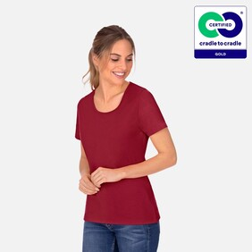 Woman's Ruby Round Neck T-Shirt - 2021
