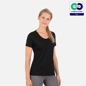 Trigema - Women's Black Round Neck Organic Cotton T-Shirt - 2021