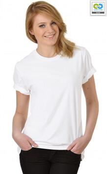 Trigema - Women's T-Shirt (RoundNeck-ClassicCut) - 100% Organic Cotton - White 2020