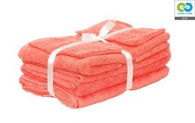 Clarysse - Coral - Twin Towel Pack