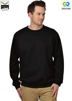 Men's Black Long Sleeve Round Neck Sweatshirt-2019