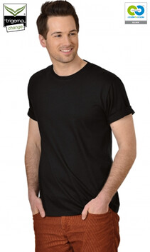 Mens Black Round Neck T-Shirt - 2019