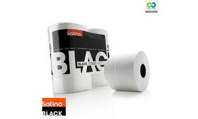 Satino Black - Toilet Paper Rolls (4 x 400sheets per pack)