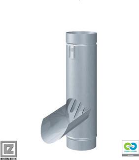 RHEINZINK - Bright rolled Water Diverter / Leaf Collector 80 mm