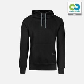 Trigema - Mens Hooded Sweater -100%  Organic Cotton - Black  2019
