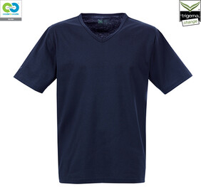 Mens Navy V-Neck T-Shirt - 2019