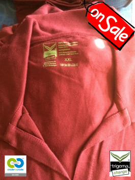 SALE (ONE ONLY - Womans XXL available in other sizes M & L) Sangria Polo T-Shirt