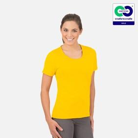 Trigema - Women's T-Shirt (Round Neck) - 100% Organic Cotton - Sun Yellow 2021