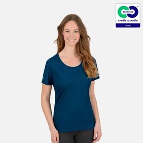 Woman's Sapphire Round Neck T-Shirt - 2021