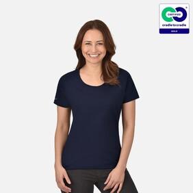 Women's Navy Round Neck T-Shirt - 2021