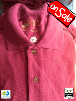 SALE (ONE ONLY) - Mens XL Cradle to Cradle Certified™ Sangria Polo T-Shirts