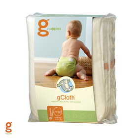 LAST ONE - gNappies - Cloth Liners - Medium/Large/XL - 6 pack