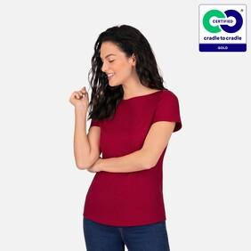 Trigema - Chic T-shirt in eco quality Ruby-C2C - 100% Organic Cotton - 2021