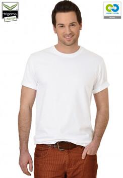 Mens White Round Neck T-Shirt - 2019
