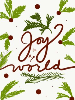 """""""Joy to the world"""" Christmas cards (pack of 10)"""