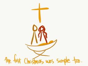 """""""First Christmas was simple too"""" Christmas card (pack of 10)"""