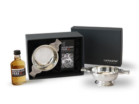 Whisky Gift with Traditional Pewter Quaich | Made in Britain