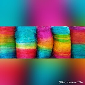 Silk & Banana Spinning Fibres - Prices from