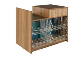 Combo Checkout Counter (wood finish)