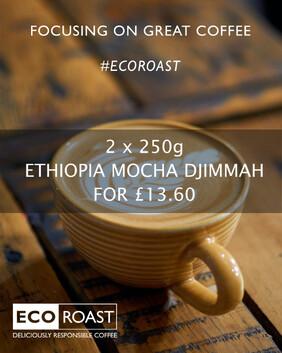 2 x 250g ETHIOPIA MOCHA DJIMMAH