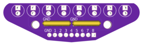 LEDs Strip board with resistor arrays