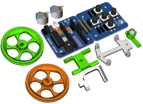 Escornabot Ogaki Assembled + Chasis (w/o microcontroller)