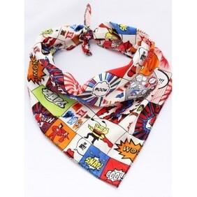 "Cartoon dog bandana - Value Size M/L 17-25"""