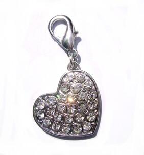 Crystal heart charm