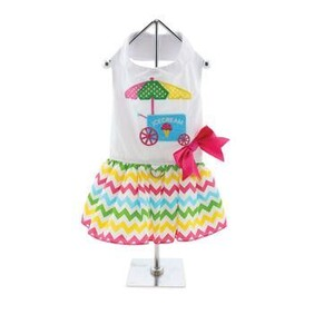 The New Ice Cream Cart Dress is fun and whimsical size large