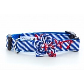 Anchors Away Flower Collar size Large 13-18 inch